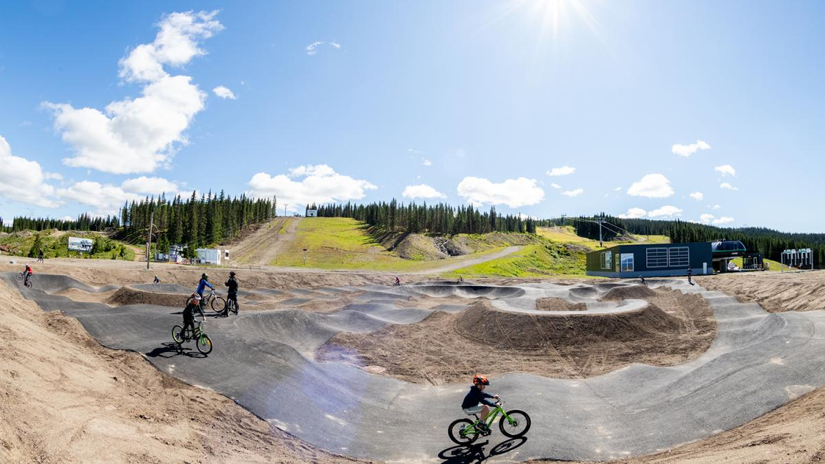 Pumptracken i Hafjell og på Mosetertoppen.